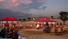 Theme dinner on Sand